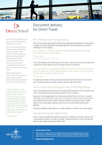 Direct Travel Document Delivery Case Study