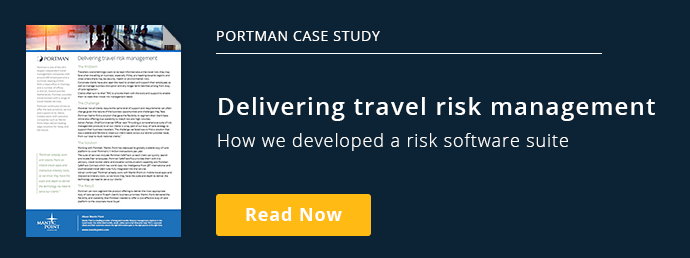Portman Case Study Delivering Travel Risk ManagementHow we developed a risk  software suite Read the Case Study Order Today